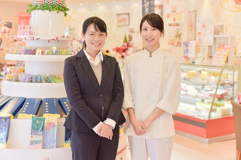 宮川葉子さん、井上亜里沙さん(あさひ製菓株式会社)